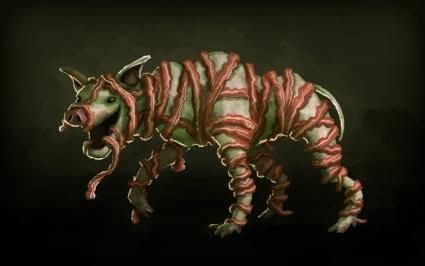 Bacon pig dog monster