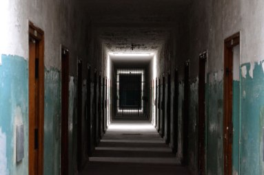 Hallway at concentration camp