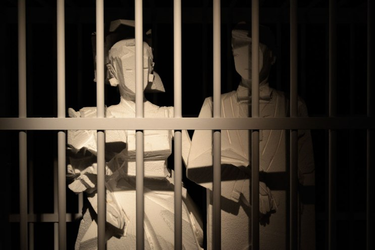 Wedding jail art instalation