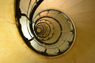 Spiral staircase in Paris