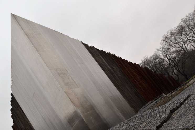 Giant metal structure in Budapest