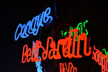 Neon words art instalation