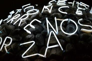 Neon letters art instalation