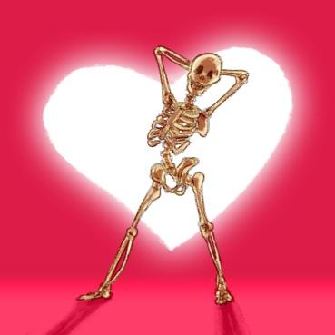 Lovely skeleton posing sexy
