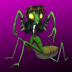 Humanoid mantis girl
