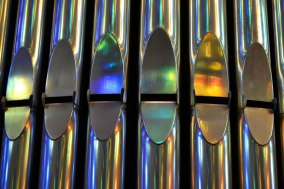 Rainbow organ at Sagrada Familia