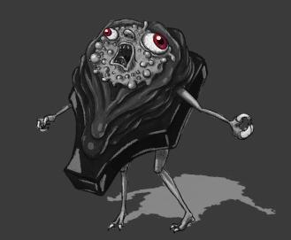 Weird puff creature