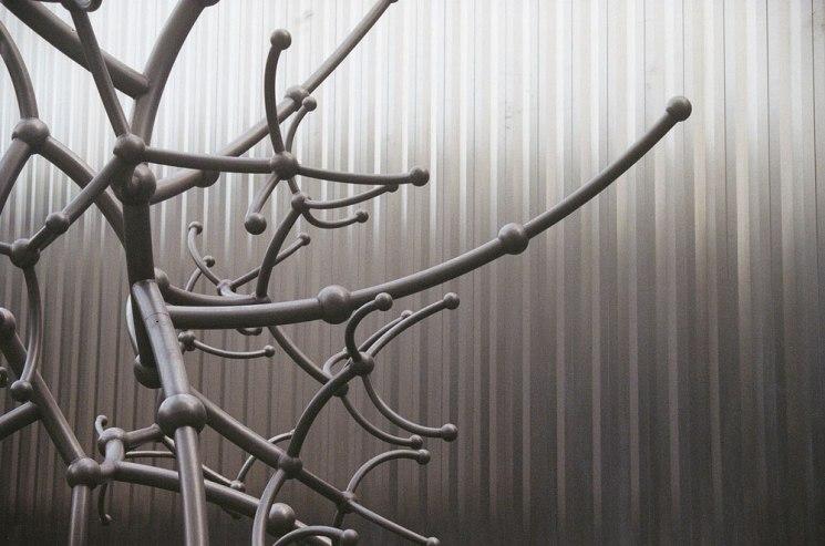 Houston metal sculpture at museum