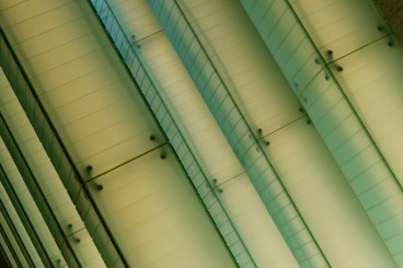 Diagonal green lights
