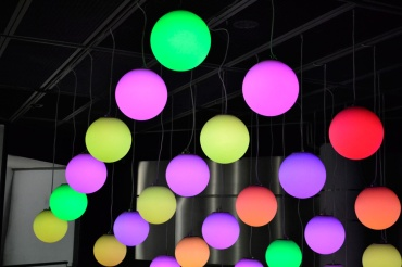 Spherical color lights