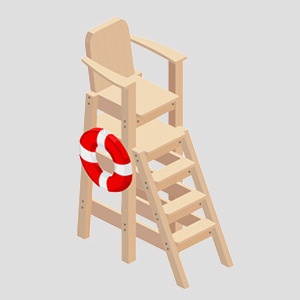 Lifeguard tower chair vector art