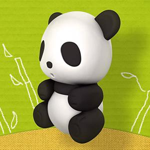 3D panda eraser render