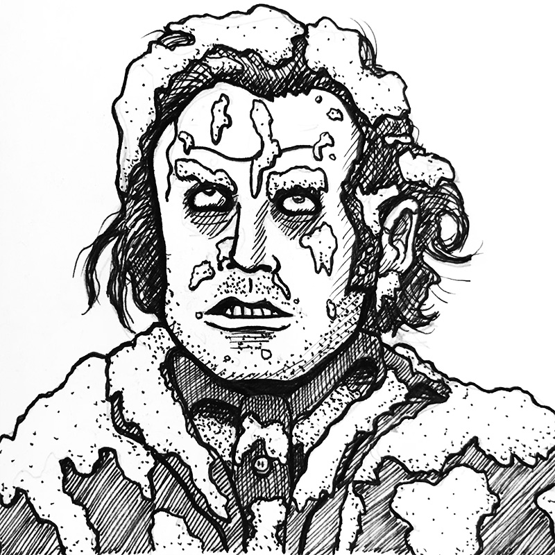 Illustration of frozen Jack Torrance from The Shining